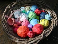 Plastic Bag Yarn (gooseflesh) Tags: vortex art crochet plastic rubbish bags