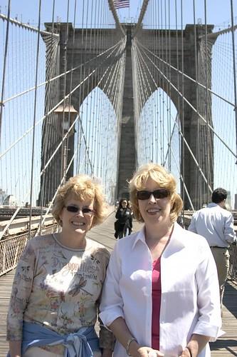 andrea and mom on the brooklyn bridge