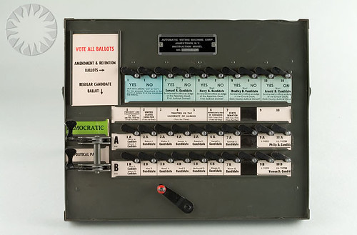 Smithsonian Voting Machine Picture