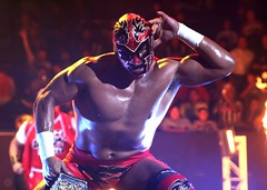 ...dr wagner hearing people scream... (angelferd) Tags: red male guy sports muscles mexico mask body dr wrestling awesome posing arena event strong luchalibre wrestler wagner monterrey lucha libre azteca angelortega angelferd