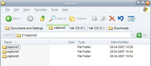 pestañas en Internet Explorer