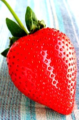 Perfect Strawberry (Monique Barber) Tags: red food fruit catchycolors strawberry vivid