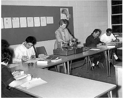 First Female Instructor Frances Taylor and Speed Reading Class-1964-1965 (Library @ Randolph Community College) Tags: north carolina asheboro randolphcommunitycollege randolphindustrialeducationcenter