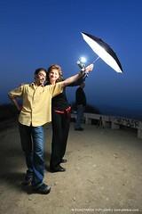 Strobist stuff (Konstantin Sutyagin) Tags: sunset outdoors happy couple lifestyle active strobist
