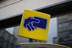 (Ti.mo) Tags: paris france sign yellow icon card signage iconography payment helveticahand