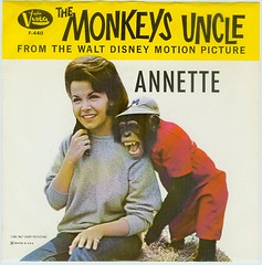 """The Monkey's Uncle"" starring Annette (Jan Tonnesen) Tags: motion monkey chimp uncle picture disney monkeys walt annette beachboys funicello skidroper"