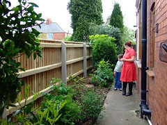 New tall fence by house
