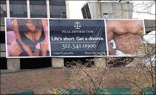 Life's short. Get a divorce.