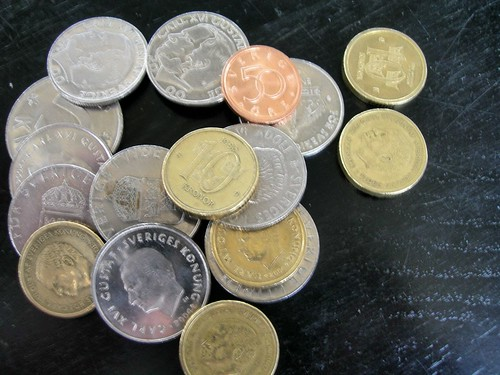 Swedish coins money