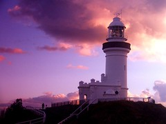 Cape Byron Lighthouse @ Sunrise5 (Monique Barber) Tags: ocean pink sunset sky clouds sunrise australia byron byronbay ligthhouse capebyron pinkforthecure