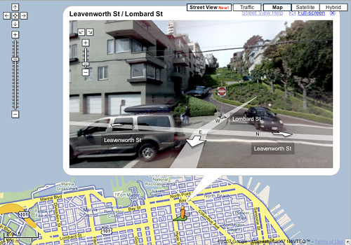Lombard Street on Google Maps Street View