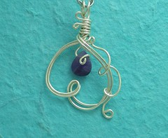 Falling Down Gently (GetWiredDesigns) Tags: art silver necklace beads wire purple handmade ooak craft jewelry jewellery indie bead handcrafted amethyst etsy beaded pendant independant wiresculpture wirewrapped artisticwire etsycrest getwired homemadeoriginals rebecca404etsycom getwireddesigns getwireddesignsetsycom httpgetwireddesignsetsycom