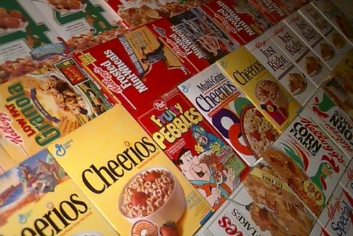 Another View of the Cereal Box Wall