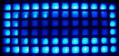 puzzle square topv555 acc2004 500plus blue led watch
