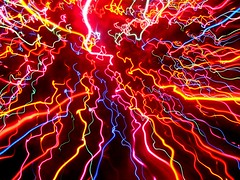 Christmas Lights in Motion (elston) Tags: christmas red motion color colors electric lights colorful glow pow frenzy squiggles msh1010 msh10104