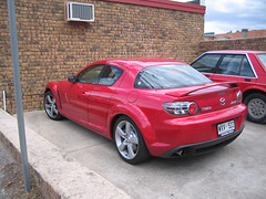 car mazda rx8 red