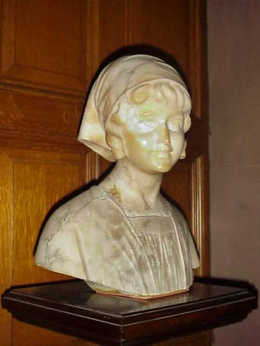Another beautiful marble bust of a peasant girl at Craigdarroch Castle