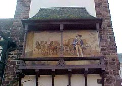 Mural on house (Gauis Caecilius) Tags: germany mural schwarzwald blackforest freiberg