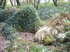 Sleeping Beauty (Roger B.) Tags: 2003 sculpture garden cornwall heligan theinspirationalgarden heliganslostgardens