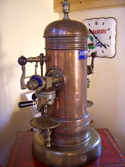 antique espresso machine