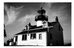ptpinos (tecgirl) Tags: bw lighthouse pacificgrove ptpinos