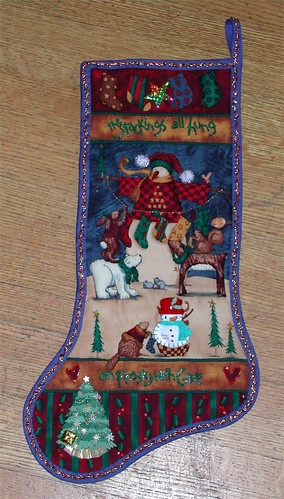 Quilted Christmas Stocking from Mom. Image by gillicious via Flickr
