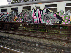 DSCF0253 (goatsquad) Tags: tmcrew graffiti trains beef dissed nt dpm neas oker dels aroe graf bombing throwups