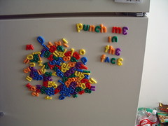 Fridge magnet letters