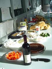 Birthday breakfast at IDII (Alive and Kikin) Tags: erez birthday 2004 italy breakfast idii ivrea