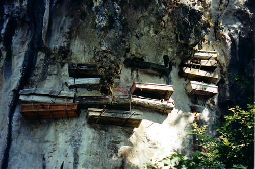 Cliff coffins in Sagada, Philippines