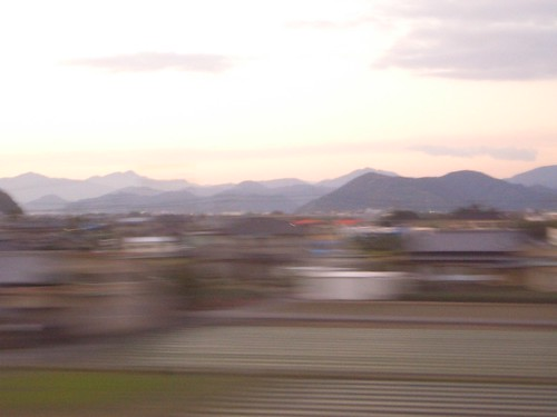 View from the Shinkansen, en route to Tokyo