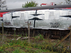 DSCF0270 (goatsquad) Tags: tm oker dels aroe graffiti beef dissed trains nt throwups goatsquad