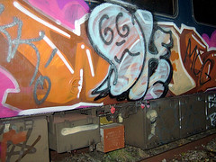 DSCF0274 (goatsquad) Tags: tm oker dels aroe nt graffiti trains wholecars panels throwups beef dissed graf