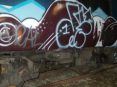 DSCF0277 (goatsquad) Tags: tm oker dels aroe nt graffiti trains wholecars panels throwups beef dissed graf