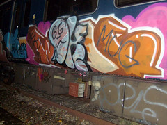 DSCF0275 (goatsquad) Tags: tm oker dels aroe nt graffiti trains wholecars panels throwups beef dissed graf