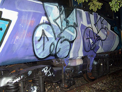 DSCF0276 (goatsquad) Tags: tm oker dels aroe nt graffiti trains wholecars panels throwups beef dissed graf