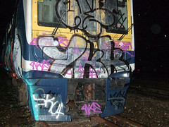 DSCF0288 (goatsquad) Tags: uk graffiti nt beef graf trains tm panels bombing throwups dissed oker dels aroe ykk skuf