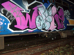 DSCF0286 (goatsquad) Tags: tm oker graffiti graf dels aroe nt trains panels beef dissed throwups