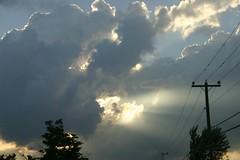 sunbeam clouds