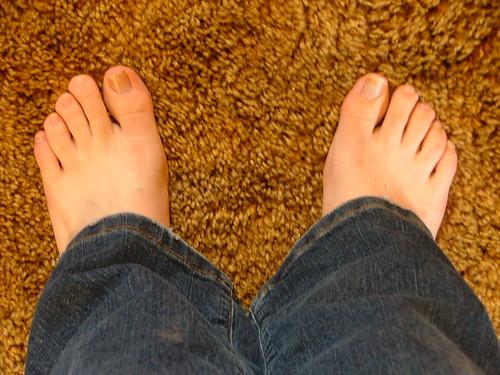 My feet by Trinity, on Flickr