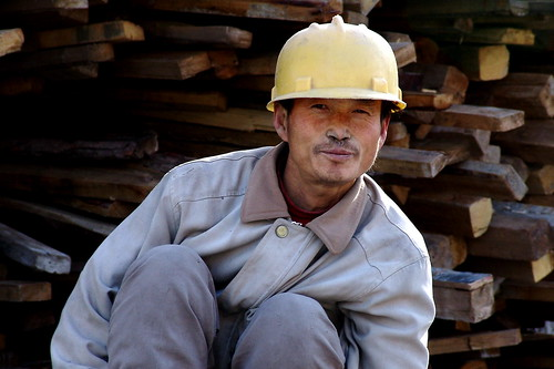 chinese workers global economy English