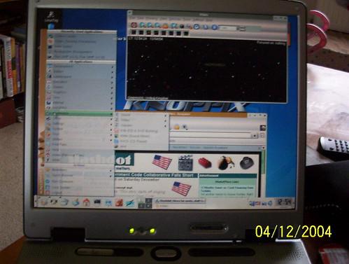 Knoppix on my laptop