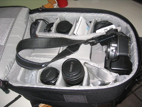 Camera bag and lenses
