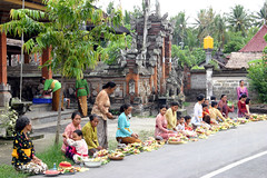 Pagerwesi Holy Day (HRKVC) Tags: bali offerings