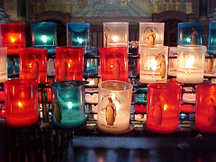 Candles (Cathy G) Tags: light red 15fav france colour church glass candles lyon albaluminis prayer illumination flame sonymavica basiliquenotredamedefourviere interestingness48 i500 floppydiscsformemory