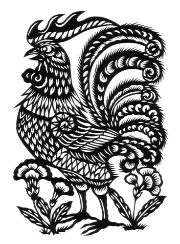 art chicken chinese rooster zodiac
