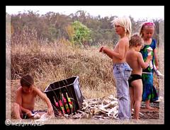 tribal kids (Webgrrl.Biz) Tags: kids children bones play victoria australia psfk mycooljeans barmah