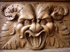 Door relief (Daveybot) Tags: door gurn face assisi portrait