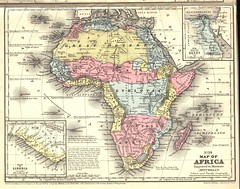 No. 30; American view of Africa from 1839 (Edu-Tourist) Tags: africa west map border egypt historical geography independence liberia colony carte vieille ancienne afrique nineteenth geographile