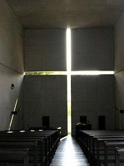 Church of Light (ellen's attic) Tags: light building church topv111 japan architecture concrete cross  osaka  lightandshadow tadaoando ibaraki ando  churchoflight